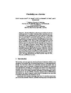 Flexibility as a Service