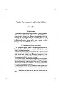 Flexible Government for a Globalized World