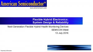 Flexible Hybrid Electronics: System Design & Reliability