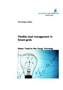 Flexible load management in Smart-grids