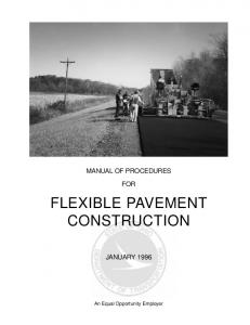 FLEXIBLE PAVEMENT CONSTRUCTION