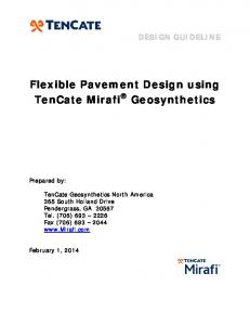 Flexible Pavement Design using TenCate Mirafi Geosynthetics