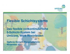 Flexible Schichtsysteme