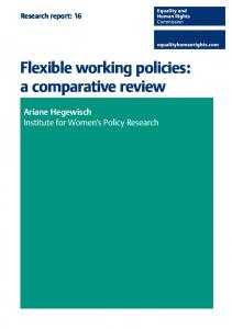 Flexible working policies: a comparative review