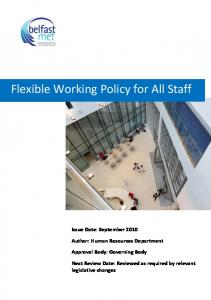 Flexible Working Policy for All Staff