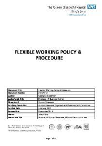FLEXIBLE WORKING POLICY & PROCEDURE