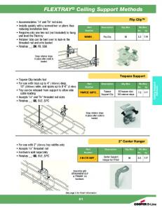 FLEXTRAY Ceiling Support Methods