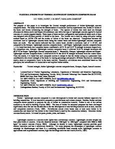 FLEXURAL STRENGTH OF TIMBER-LIGHTWEIGHT CONCRETE COMPOSITE BEAM