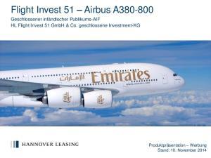 Flight Invest 51 Airbus A