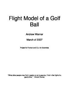 Flight Model of a Golf Ball