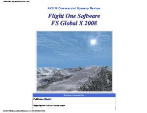 Flight One Software FS Global X 2008