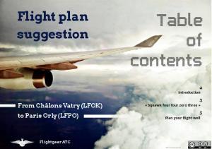 Flight plan suggestion