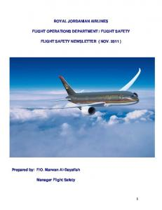 FLIGHT SAFETY FLIGHT SAFETY NEWSLETTER ( NOV )