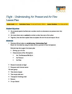 Flight Understanding Air Pressure and Air Flow