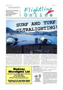 Flightline Online SURF AND TURF ULTRALIGHTING!