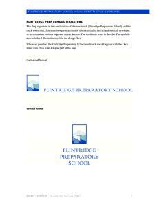 flintridge preparatory school Visual Identity style guidelines