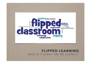 FLIPPED LEARNING WHAT IS IT & WHY ARE WE DOING IT