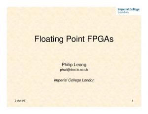 Floating Point FPGAs