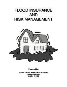 FLOOD INSURANCE AND RISK MANAGEMENT