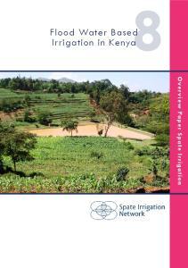 Flood Water Based Irrigation in Kenya. Overview Paper Spate Irrigation