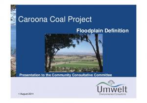 Floodplain Definition Presentation to the Community Consultative Committee