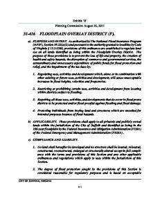 FLOODPLAIN OVERLAY DISTRICT (F)