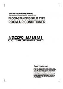 FLOOR-STANDING SPLIT TYPE ROOM AIR CONDITIONER