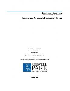 FLORENCE, ALABAMA INDOOR AIR QUALITY MONITORING STUDY
