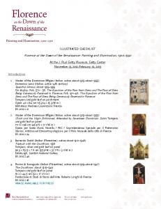 Florence at the Dawn of the Renaissance: Painting and Illumination,