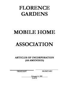 FLORENCE GARDENS MOBILE HOME ASSOCIATION