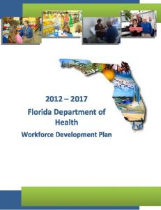 Florida Department of Health Workforce Development Plan