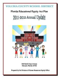 Florida Educational Equity Act Plan