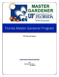 Florida Master Gardener Program