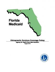 Florida Medicaid. Chiropractic Services Coverage Policy