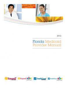 Florida Medicaid Provider Manual