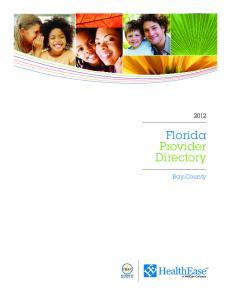 Florida Provider Directory. Bay County