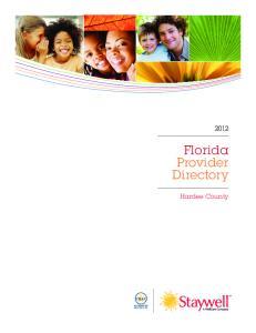 Florida Provider Directory. Hardee County