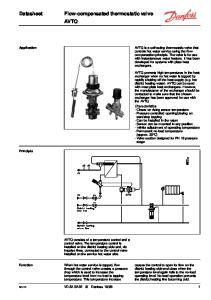 Flow-compensated thermostatic valve AVTQ