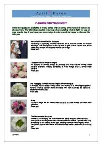 FLOWERS FOR YOUR EVENT