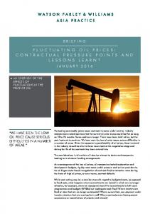 FLUCTUATING OIL PRICES: CONTRACTUAL PRESSURE POINTS AND LESSONS LEARNT