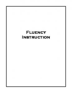 Fluency Instruction. What is Fluency? Fluency Research