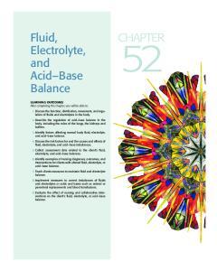 Fluid, Electrolyte, and Acid Base Balance CHAPTER