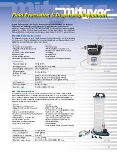 Fluid Evacuation & Dispensing Equipment