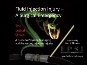 Fluid Injection Injury A Surgical Emergency