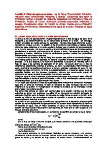 FLUJO DE AGUA EN EL SUELO Y ZONA NO SATURADA