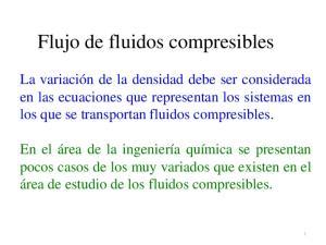 Flujo de fluidos compresibles