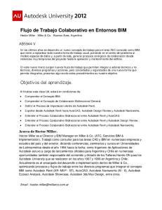 Flujo de Trabajo Colaborativo en Entornos BIM