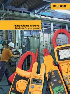 Fluke Clamp Meters Solutions for every need