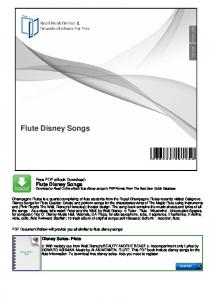Flute Disney Songs. Flute Disney Songs Download or Read Online ebook flute disney songs in PDF Format From The Best User Guide Database