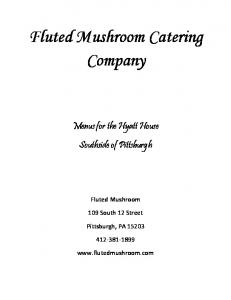 Fluted Mushroom Catering Company